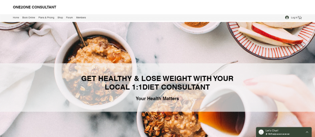 How to setup a 1:1 diet consultant website 2
